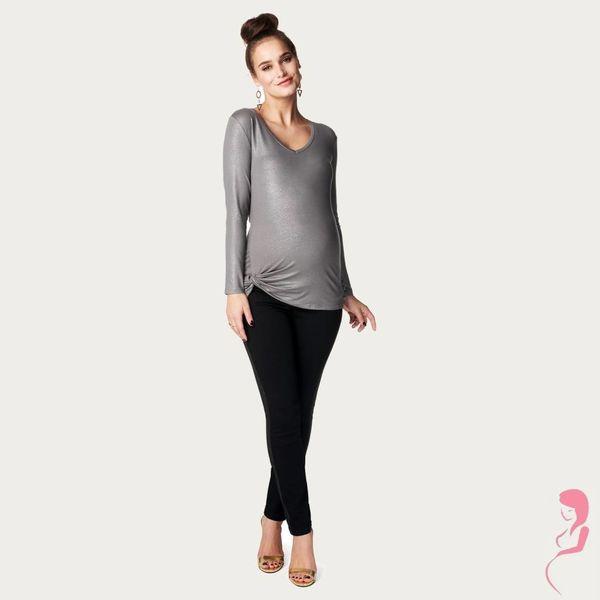 Noppies Zwangerschapsbroek Lene Pantalon Slim Zwart