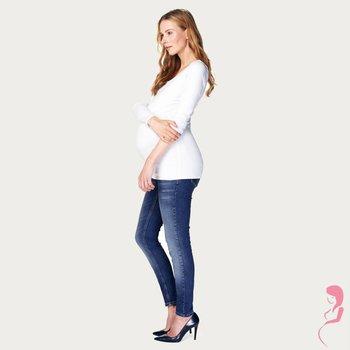 Noppies Zwangerschapsshirt Ronde Hals Lange Mouw Wit