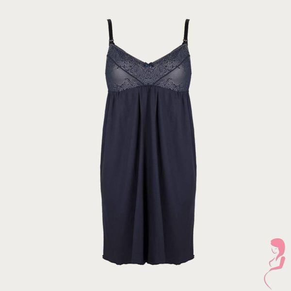 Lupoline Zwangerschapsnachtjurk / Voedingsnachtjurk Beauty Blue