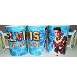 Mok Elvis Blue Hawaii Surf Board Handle - Groot