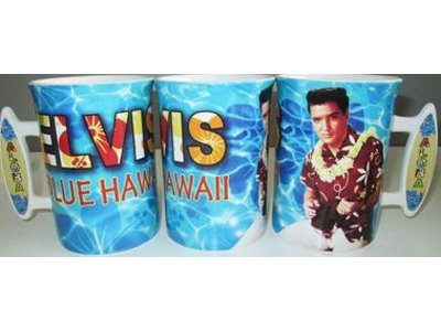 Mug Elvis Blue Hawaii Surf Board Handle - Large
