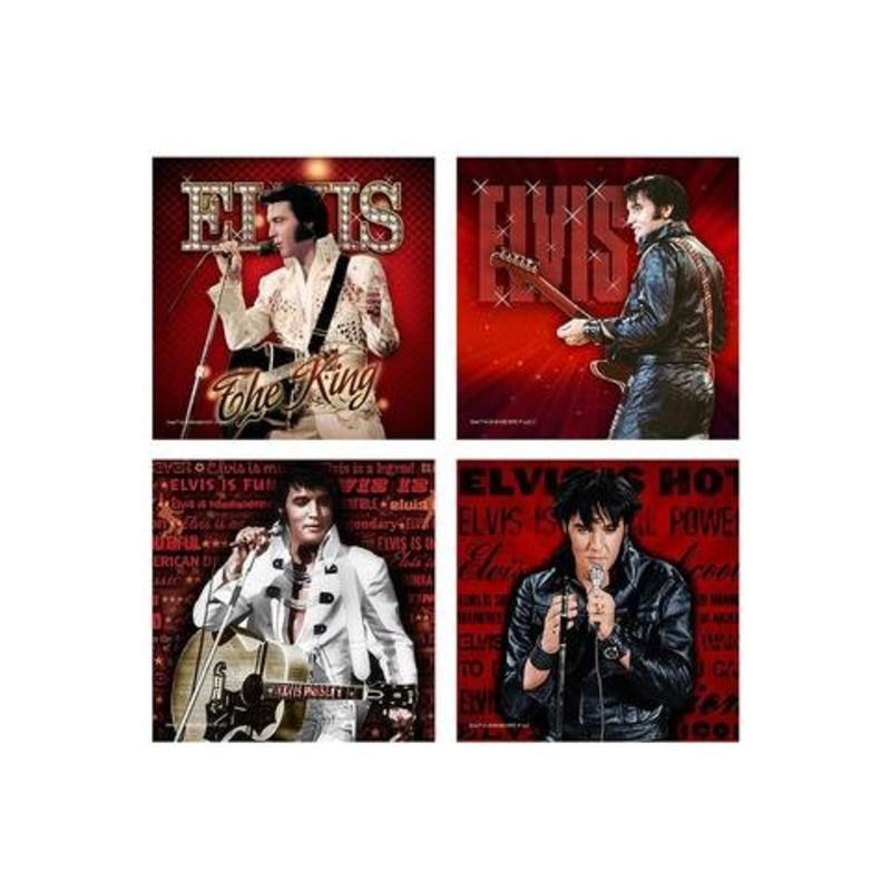 Onderzetters - Elvis Live - Set van 4
