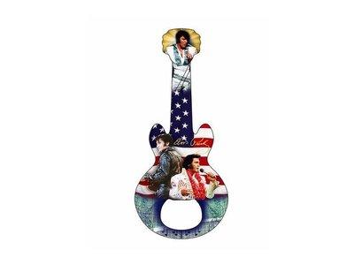 Bottle Opener Magnet Elvis Guitar American Flag