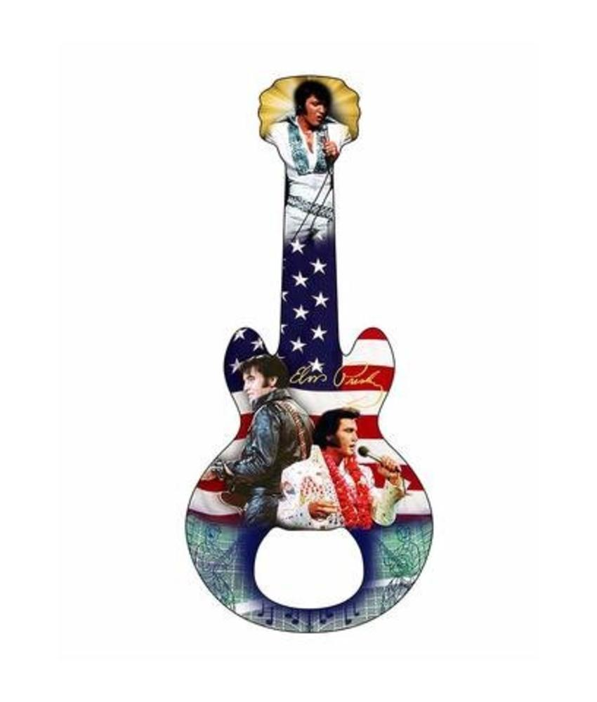 Bottle Opener Magnet Elvis Guitar American Flag