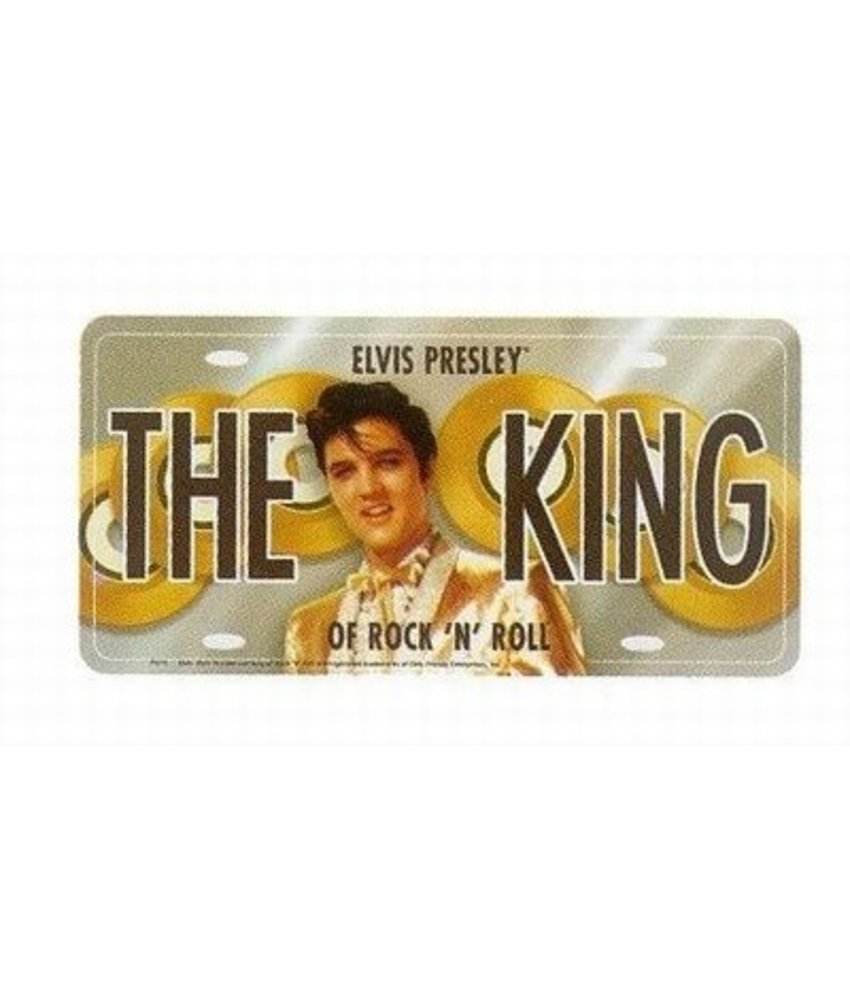 License plate - Elvis Presley The King