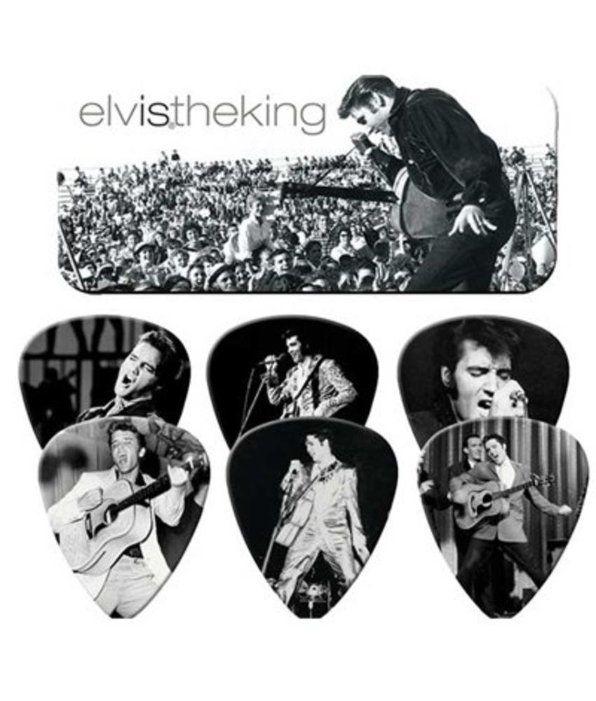 Guitar Pick Tin - The King Collection