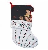 Christmas Stocking - Elvis - Velvet Jeweled Rock