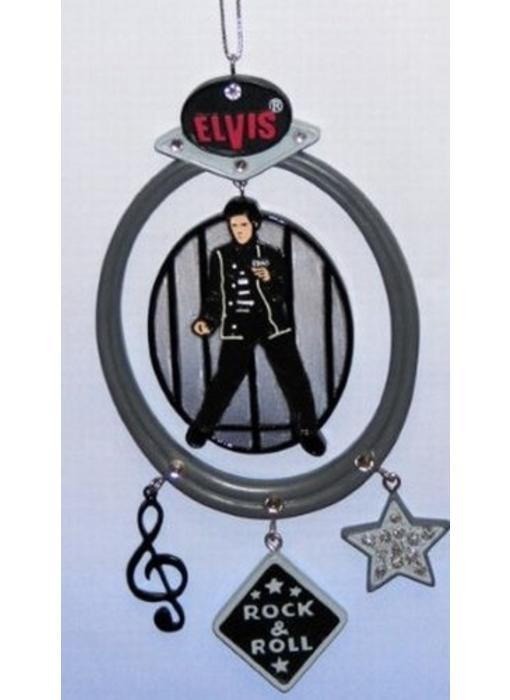 Ornament - Elvis In Black Suit