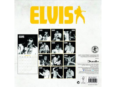 Kalender 2019 - Elvis Danilo Vierkant Elvis On Stage