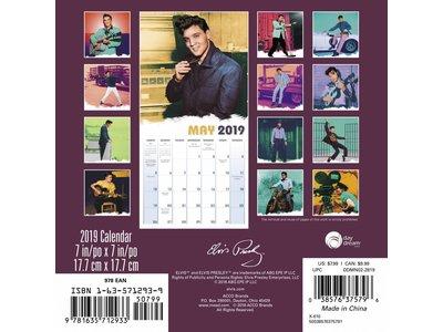 Calender 2019 - Elvis 16 Months Ed Sullivan