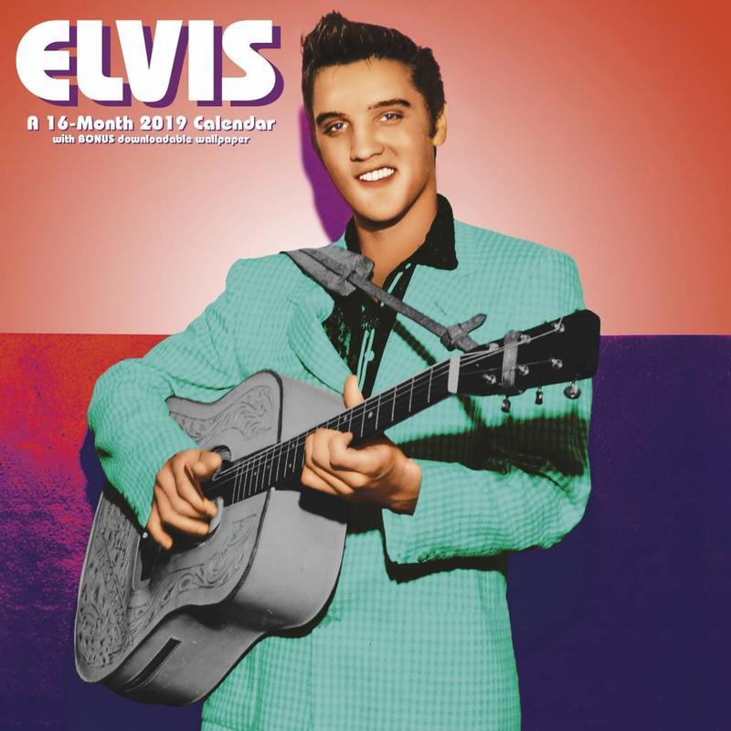 Kalender 2019 - Elvis 16 Maanden Kalender Sun