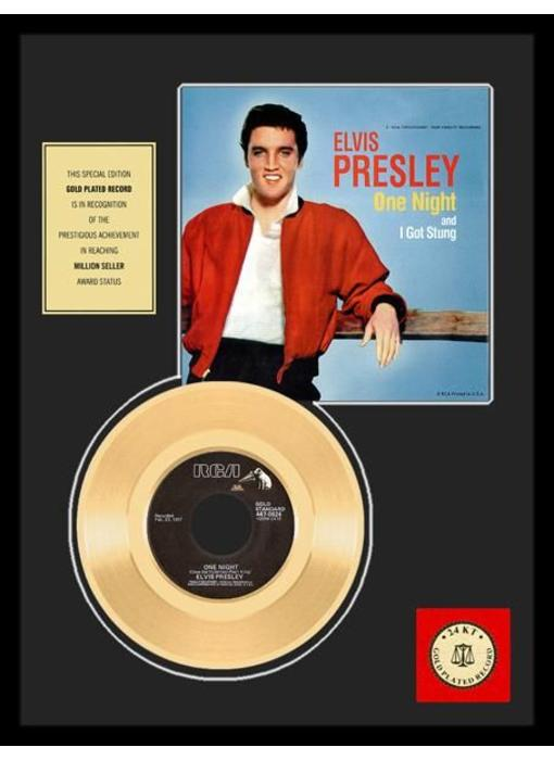 Gold Record 45 RPM  Elvis' One Night - I Got Stung