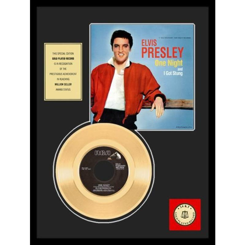 Gold Record 45 RPM  Elvis' One Night - I Got Stung