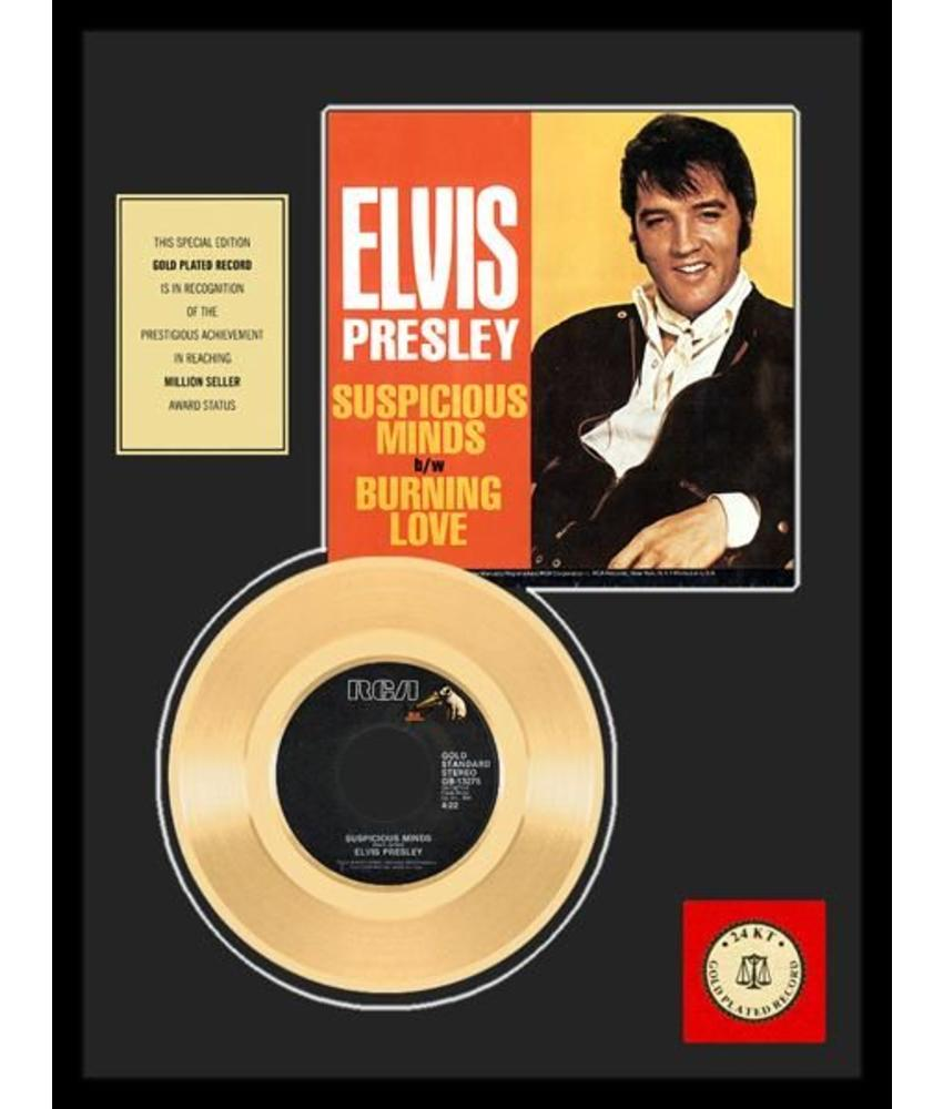 Gold Record 45 RPM  Elvis' Suspicious Minds - Burning Love