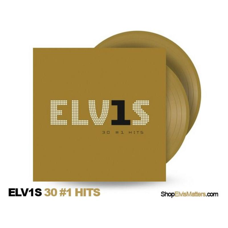 Elvis 30 #1 Hits Gold Coloured Vinyl 2 LP
