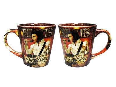 Mug Elvis The King In Red Background