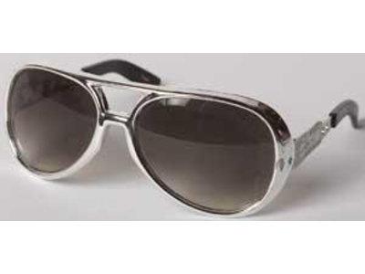 Elvis Zonnebril Seventies - Zilverkleurig