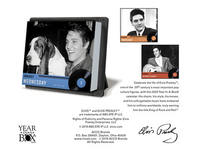 Kalender 2020 - Elvis Year In A Box Scheurkalender