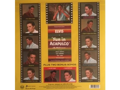 Fun In Acapulco - Elvis At The Movies 33 RPM Music On Vinyl RCA Label