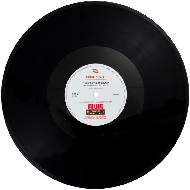 You're Driving Me Crazy - Anita Wood Calls Elvis Presley - Promo Black Vinyl LP