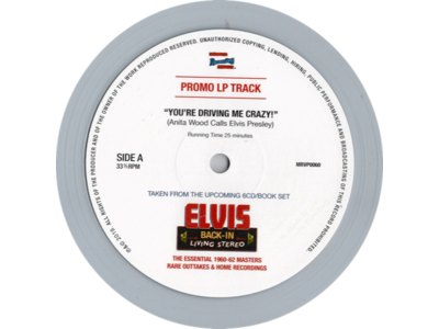 You're Driving Me Crazy - Anita Wood Calls Elvis Presley - Promo Clear Vinyl LP