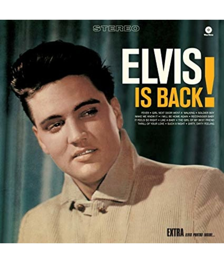 Elvis Is Back! - 33 RPM Vinyl Wax Time Label