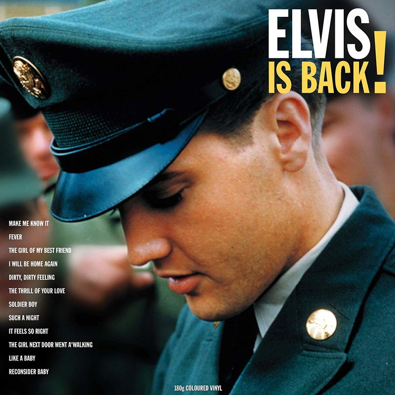 Elvis Is Back! - 33 RPM Vinyl Not Now Music Label - Alternate Cover
