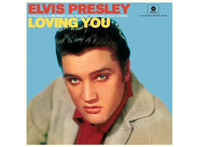 Elvis Presley In Loving You - 33 RPM Vinyl Wax Time Label - Original Cover Picture