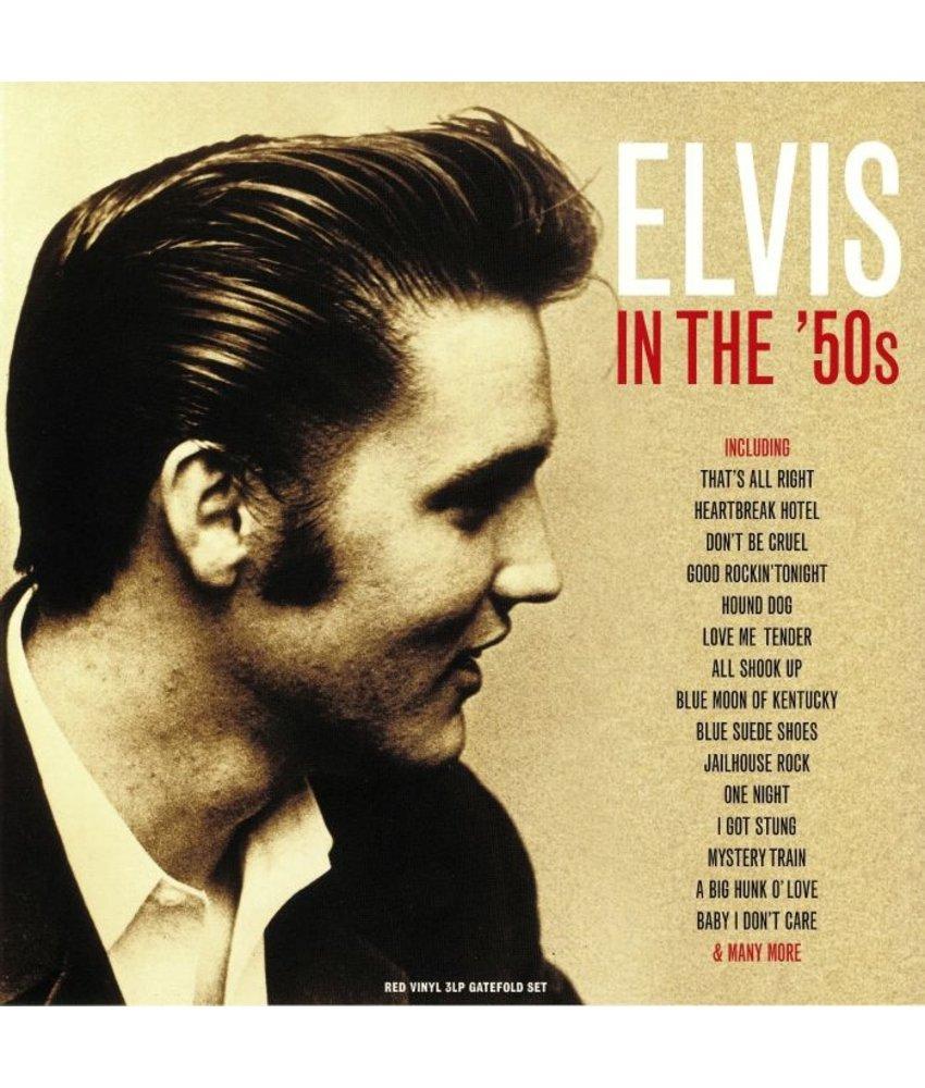 Elvis In The '50's 3 LP Set Red Vinyl - 33 RPM Vinyl Not Now Music Label