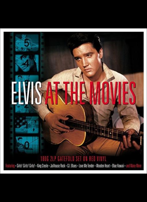 Elvis At The Movies 2 LP Set Red Vinyl - 33 RPM Vinyl Not Now Music Label