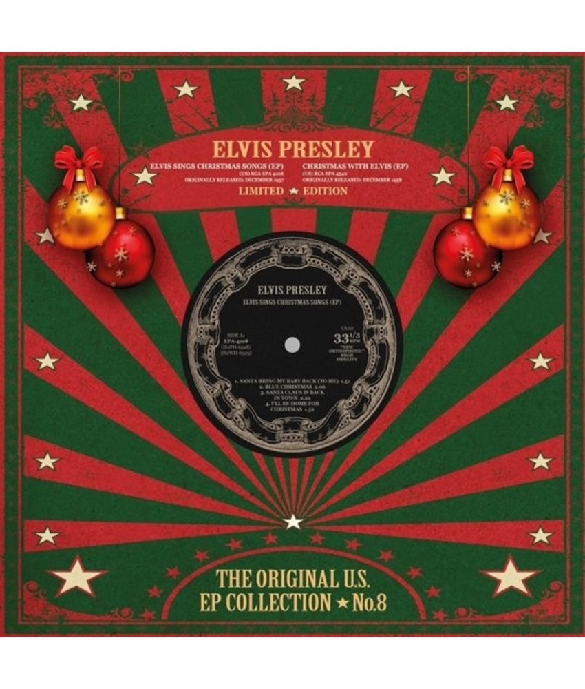 Elvis Presley - The Original U.S. EP Collection No. 8 - Christmas Red Vinyl