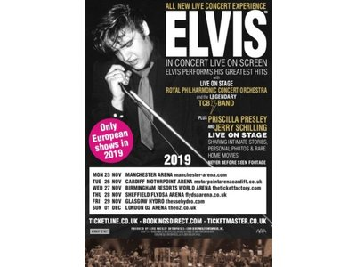 Elvis In Concert Programma Boek UK Tour 2019