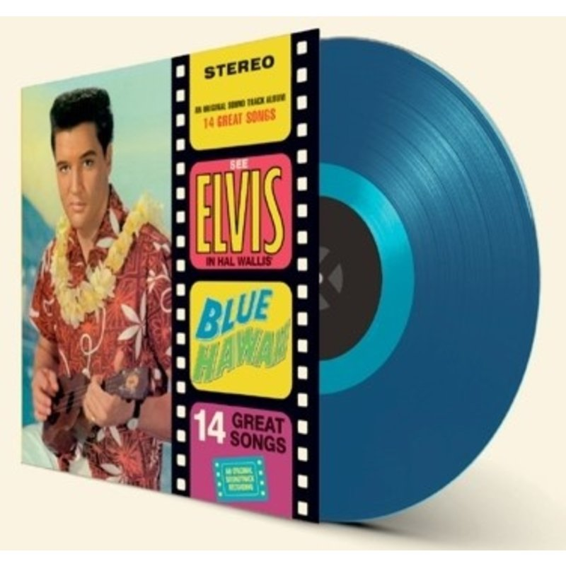 Elvis Presley Blue Hawaii - Blue Vinyl - 33 RPM Vinyl Wax Time Label