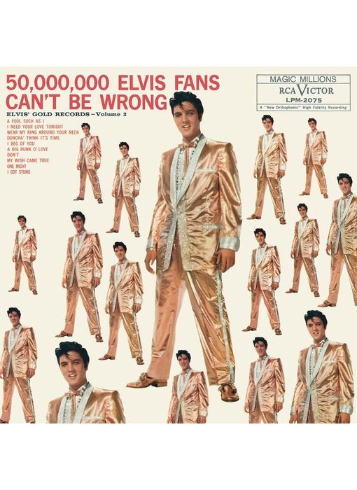50,000,000 Elvis Fans Can't Be Wrong - Elvis Golden Records Vol 2 - 33 RPM Vinyl Legacy Label
