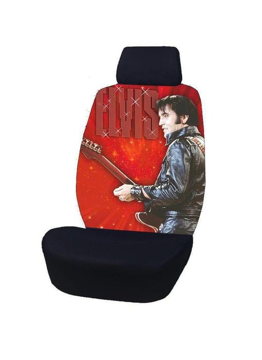 Car seat cover Elvis Comeback Special - Red Background