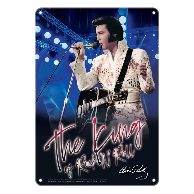 Metal Plate - Elvis The King Of Rock 'n Roll