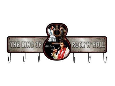 Metal Coat Rack - Elvis The King Of Rock 'n Roll