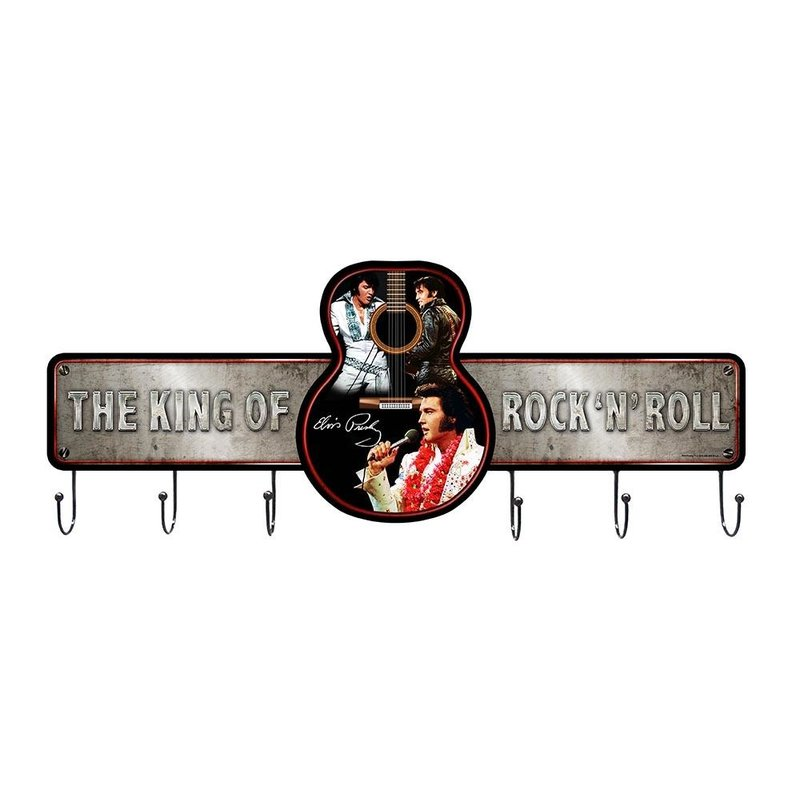 Metal Coat Rack - Elvis The King Of Rock 'n Roll
