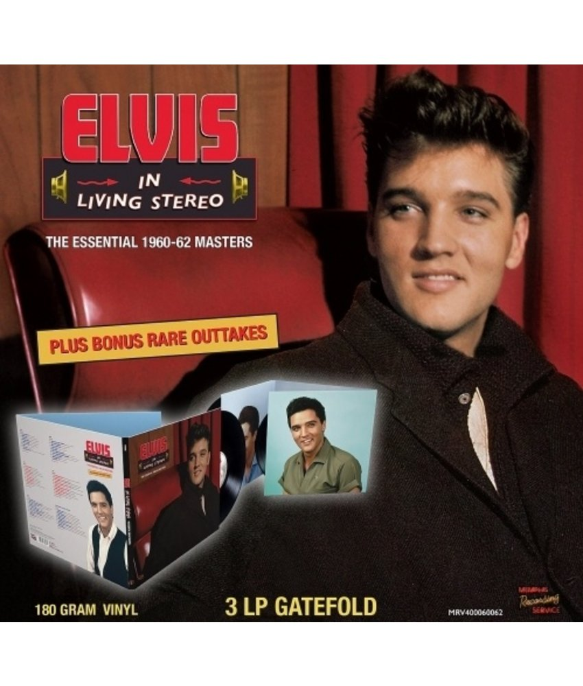 MRS - Elvis In Living Stereo - The Essential 1960-62 Masters - 3 LP Black Vinyl Gatefold Set