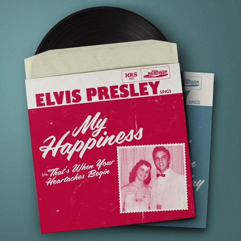 Elvis Presley - My Happiness Black Vinyl Replica Acetate