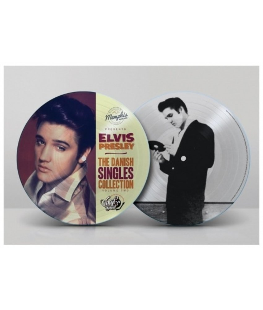 Elvis Presley - The Danish Singles Collection Volume Two - Picture Disc Blue Vinyl Memphis Mansion Label