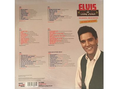 MRS - Elvis In Living Stereo - The Essential 1960-62 Masters - 3 LP Clear Vinyl Gatefold Set
