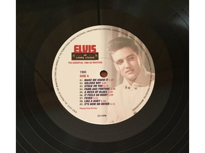MRS - Elvis In Living Stereo - The Essential 1960-62 Masters - 3 LP Black Vinyl Gatefold Set