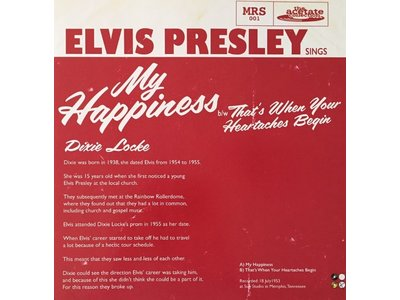 Elvis Presley - My Happiness Yellow Vinyl Replica Acetate