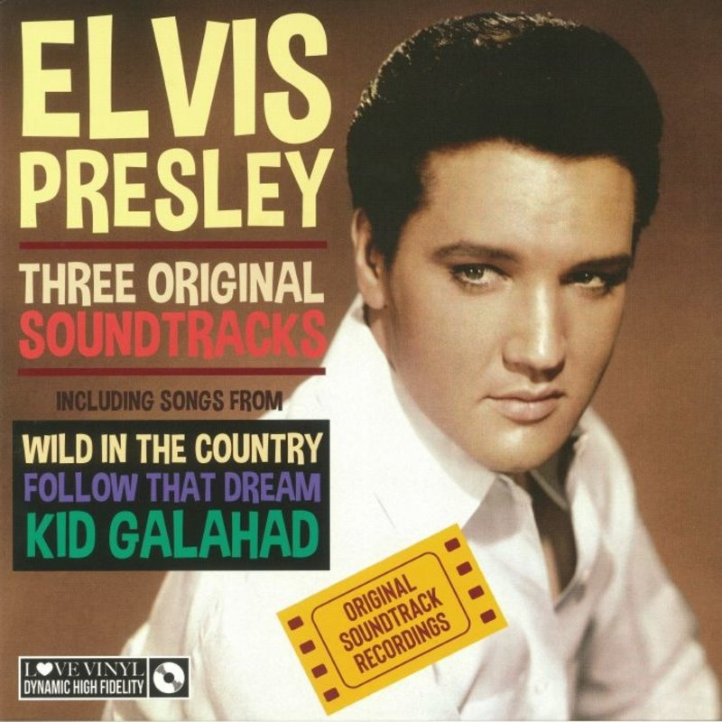 Elvis Presley Three Original Soundtracks Black Vinyl - 33 RPM Vinyl My Generation Music Label