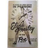 Metal Sign - Elvis Presley On Stage Fox