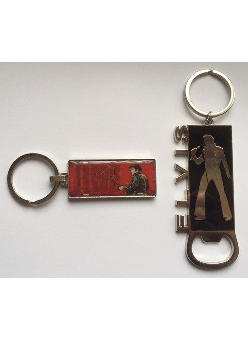 Keyring set 2 pieces - Elvis '68 Special - Elvis Silhouette Bottle opener