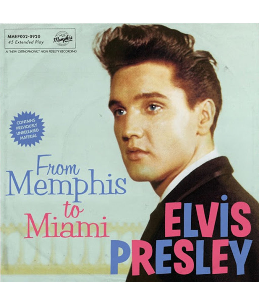 Elvis Presley - From Memphis To Miami - Orange Vinyl EP Memphis Mansion Label