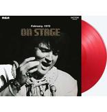 Elvis On Stage - Red Vinyl 33 RPM Music On Vinyl Label