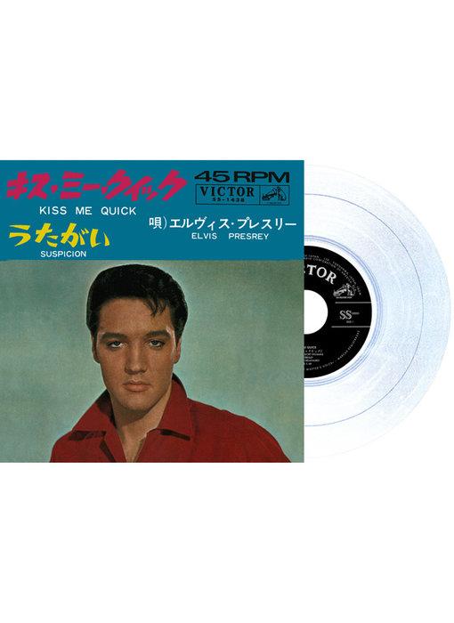 Elvis Presley Kiss Me Quick / Suspicion Japan Edition Re-Issue Glow In The Dark Vinyl